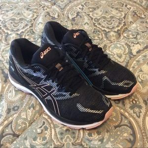New Asics Gel Nimbus 20 Black Frosted Rose Wmns 9